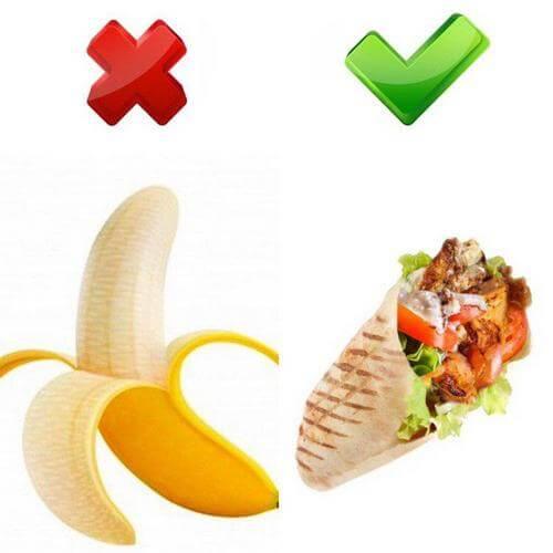 На похудении лучше съесть шаурму, а не банан