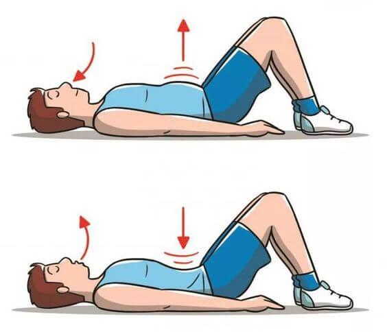 Упражнение вакуум для формирования плоского живота (даже при диастазе)